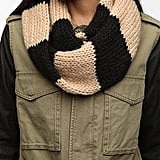 The classic rugby-style stripes on this Cooperative Snood Scarf ($29) have that quintessential preppy vibe that'll be fun to mix and match with your anorak, leather jacket, and beyond.