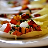 Endive Spears Topped With Sweet Potato and Bacon