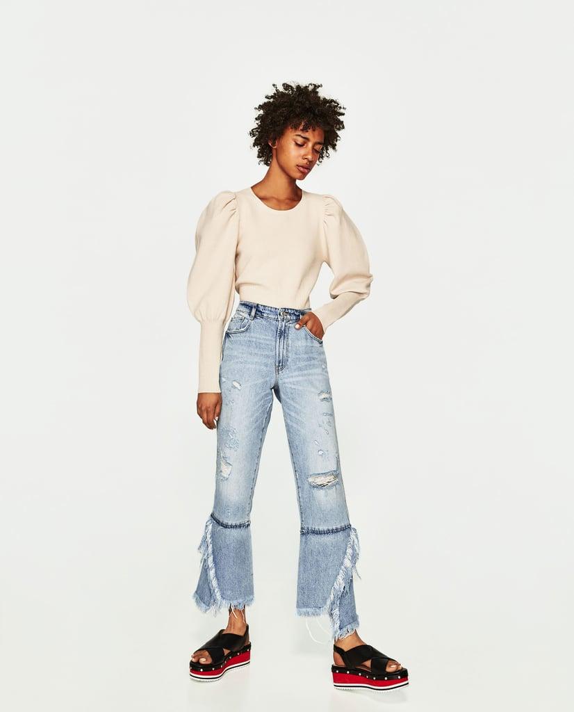Zara Flared High-Waist Jeans