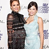 Jessica Alba linked up with Jenna Dewan at the Self magazine Women Doing Good Awards in NYC.