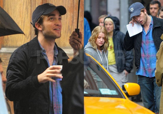 Photos of Robert Pattinson and Emilie de Ravin Filming Remember Me in NYC