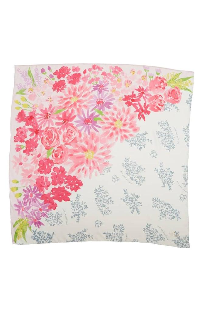 Kate Spade Deli Flowers Square Silk Scarf ($78)