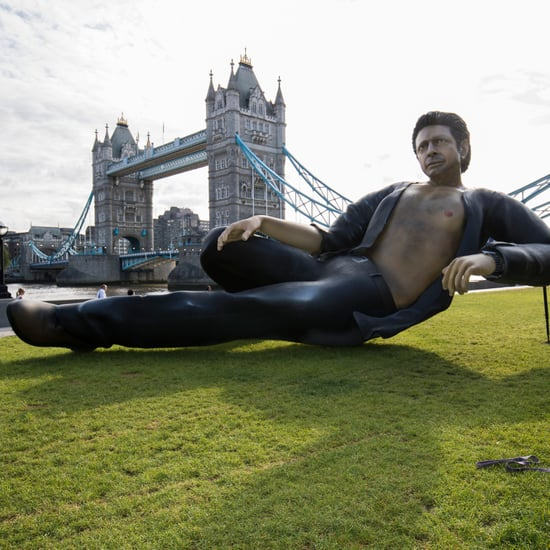 Giant Jeff Goldblum Sculpture in London