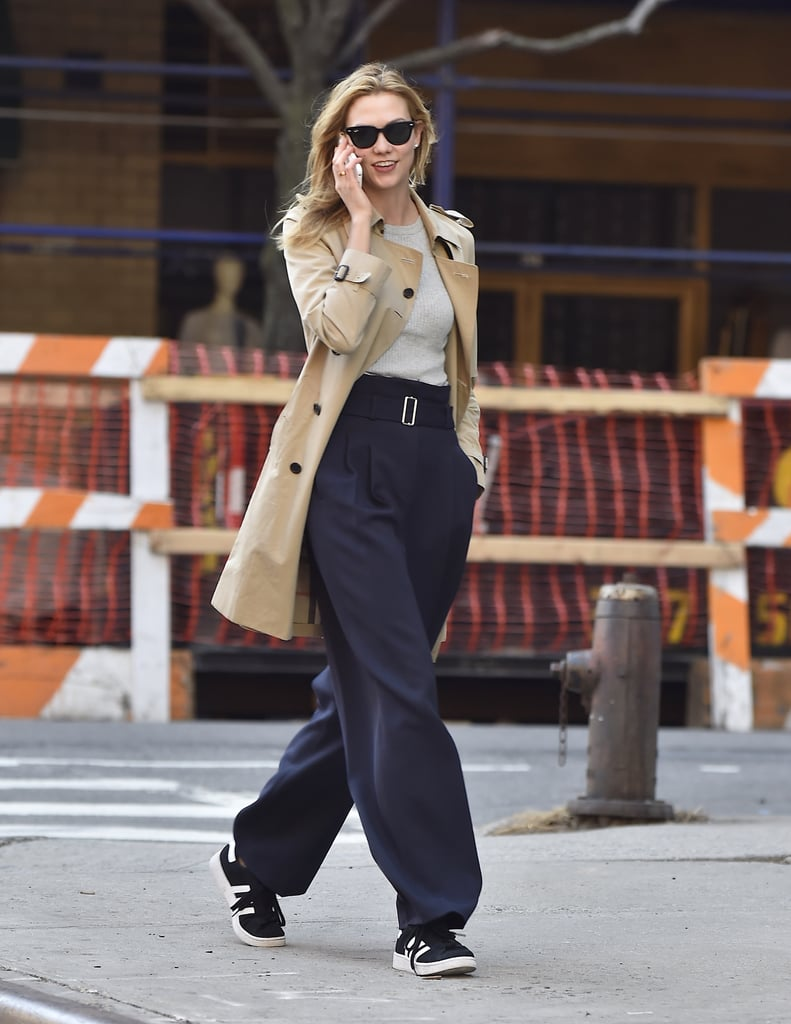 Karlie Kloss Wearing Sneakers Popsugar Fashion
