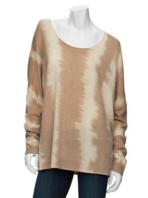 Torn by Ronny Kobo Tie-Dye U-Neck Sweater ($248)