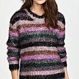 Milly Italian Metallic Fringe Sweater