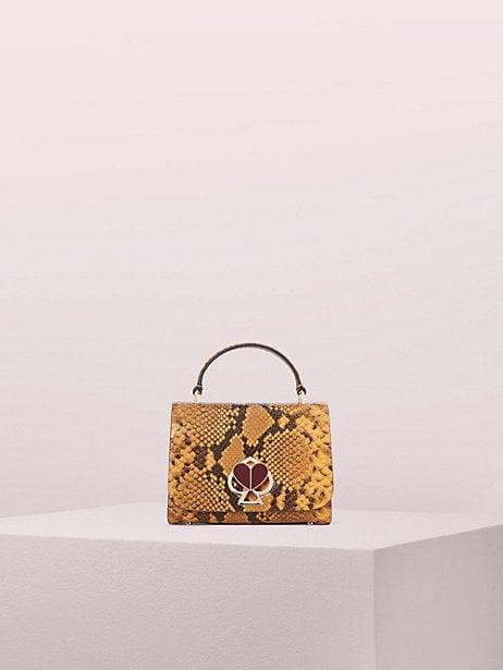 Kate Spade New York Nicola Snake Embossed Twistlock Top-Handle Bag