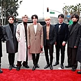BTS at the 2020 Grammys in Matching Bottega Veneta Looks