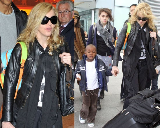 Photos of Madonna, David Banda Ritchie, Lourdes Leon, Rocco Ritchie in London