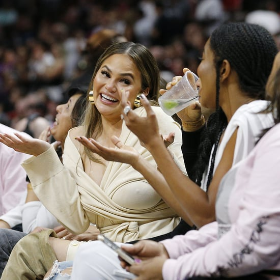 Chrissy Teigen and John Legend at Dwyane Wade's Last Game