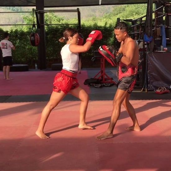Gina Rodriguez Boxing in Thailand   Instagram Video