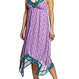 Slip this on with a few standout bangles for cocktail hour.  Old Navy Printed-Chiffon Handkerchief Dress ($35)