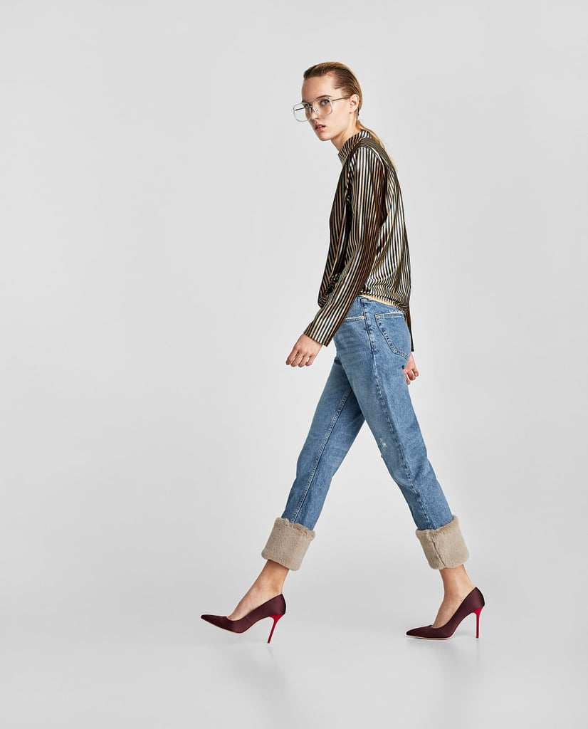 Zara Real Vintage High Rise Textured Jeans