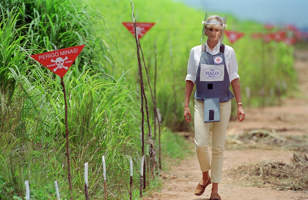 The image of Diana walking in Angola through a former minefield has become one of the most enduring images of her. It is clearly an issue which resonated with Harry, as he took a similar walk through a former minefield in Mozambique in 2010. He later became patron of the HALO charity's 25th anniversary appeal in 2013.