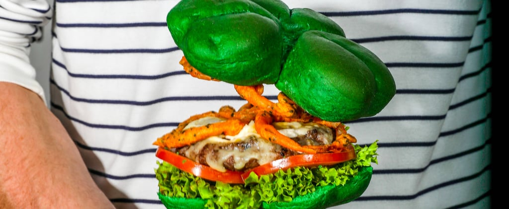 Green Shamrock Burgers Sold in Dubai For St. Patrick's Day