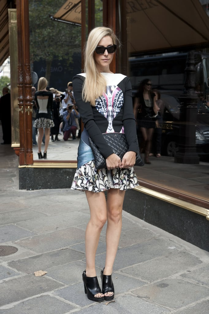 Joanna Hillman made a statement in Peter Pilotto.