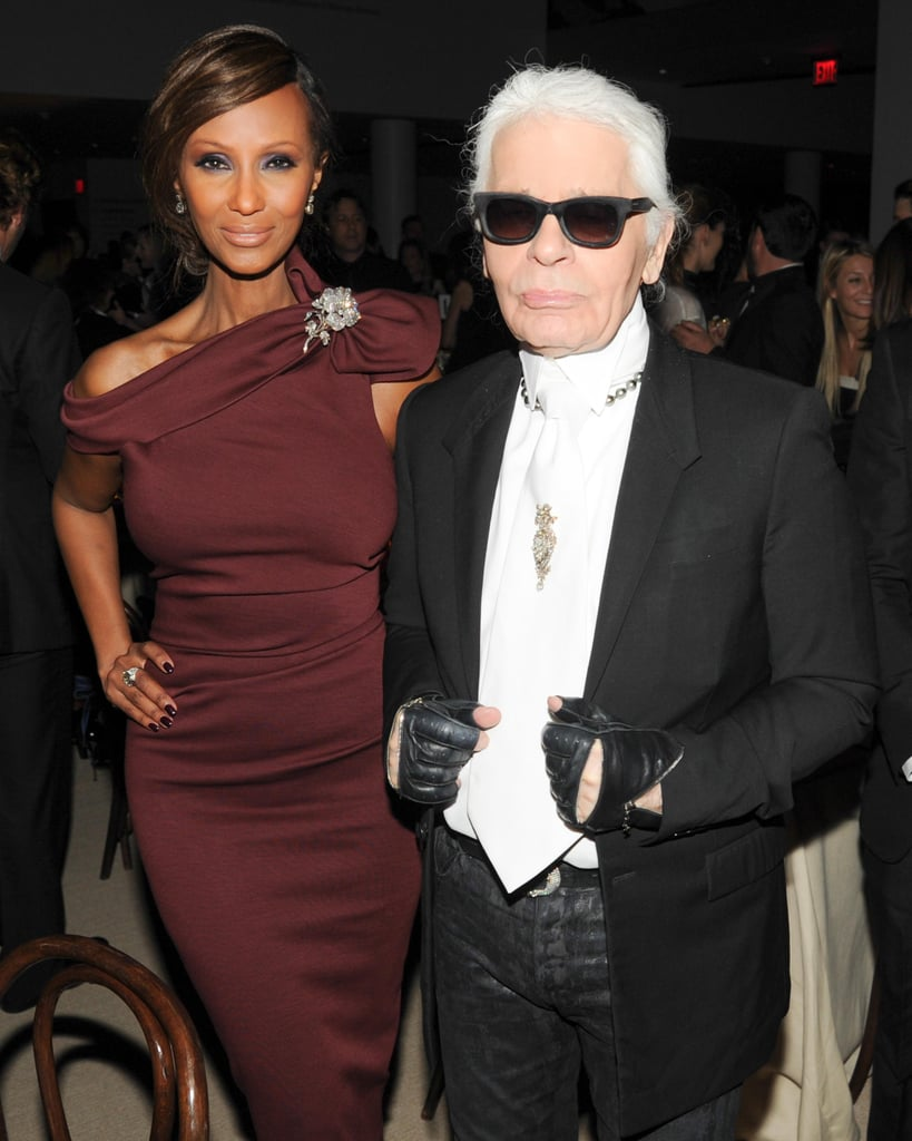 Iman and Karl Lagerfeld mingled with the stylish crowd at Chanel and MoMA's Film Benefit.