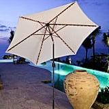 Natural Tilting Outdoor Umbrella With Lights