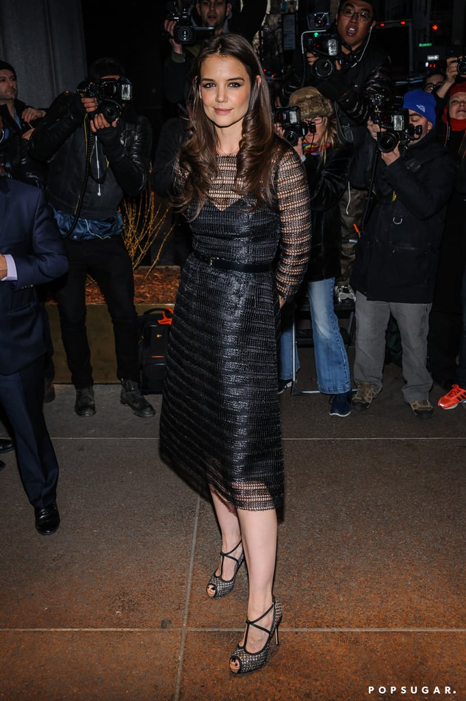 Katie Holmes donned a sheer black Dolce & Gabbana dress for The New York Observer's 25th anniversary party in NYC.