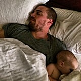 Stephen and Mavi made for adorable sleeping buddies in April 2014.