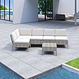 Bromborough 6 Piece Rattan Sectional Seating Group With Cushions