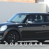 Kristen Stewart drove around LA in her Mini Cooper.