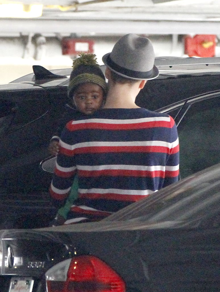 Charlize Theron and Jackson both sported hats as they ran errands.
