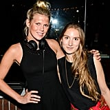 Julia Jacobson joined Alexandra Richards, who was keeping the crowd on their feet at the StyleList party.