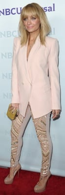 Nicole Richie in Antonio Berardi, Christian Louboutin Pumps
