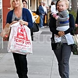 Amy Poehler Fits In Some Toy Shopping and Recreation With Adorable Archie
