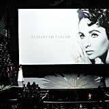 The Academy included an In Memoriam tribute to late actress Elizabeth Taylor.