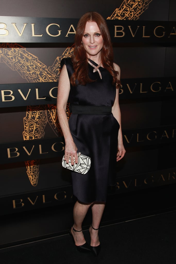 Julianne Moore attended Bulgari's event in NYC for Fashion Week in February.