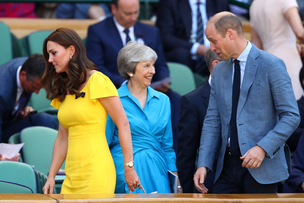 Kate Middleton Yellow Dress Wimbledon 2018 | POPSUGAR Fashion Photo 5