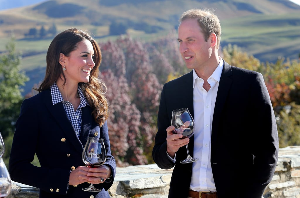 Kate Middleton Drinking Wine in Queenstown, New Zealand