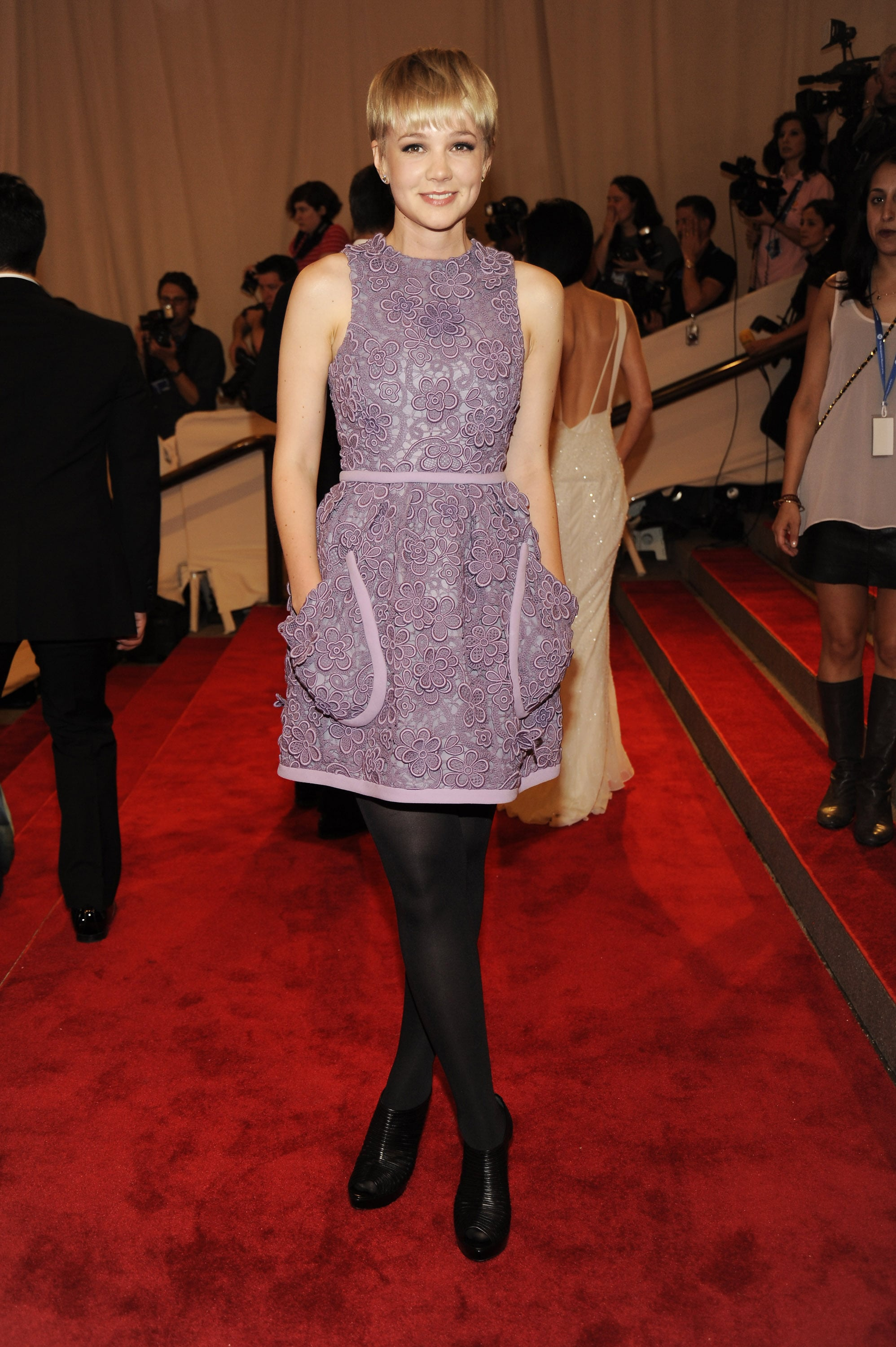 Carey Mulligan in Floral Miu Miu at the 2010 Met Gala