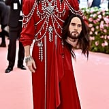 So Camp: Jared Leto Accessorising His Outfit With His Own Head