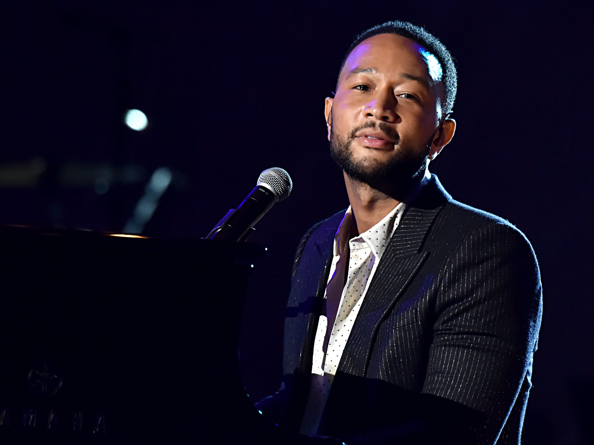 LOS ANGELES, CALIFORNIA - JANUARY 24: John Legend performs onstage during MusiCares Person of the Year honoring Aerosmith at West Hall at Los Angeles Convention Center on January 24, 2020 in Los Angeles, California. (Photo by Lester Cohen/Getty Images for The Recording Academy )