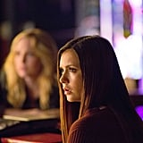 Elena (Nina Dobrev) looks surprised about something. Are there still surprises in Mystic Falls?