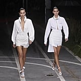 Bella Hadid Walking the Off-White Runway at Paris Fashion Week Womenswear Spring/Summer 2019