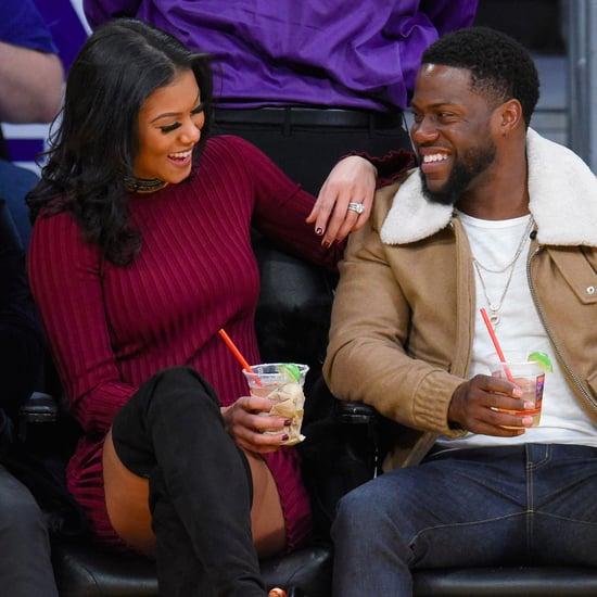 Kevin Hart and Eniko Parrish at LA Lakers Game Dec. 2016
