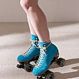 Moxi UO Exclusive Suede Roller Skates Turquoise