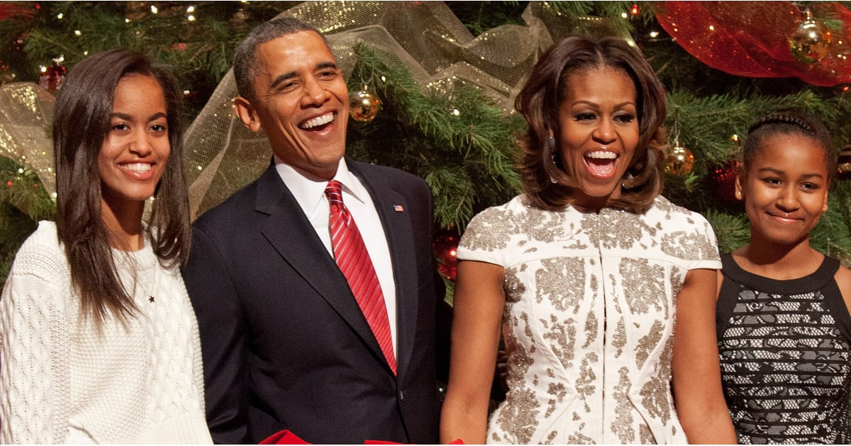Obama Family Christmas Card December 2016 | POPSUGAR Celebrity