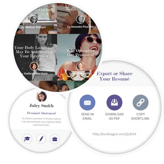 levo resume app popsugar career and finance