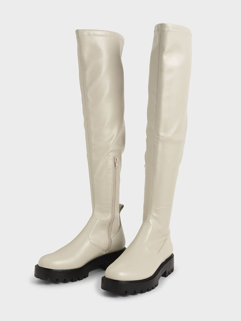 Charles & Keith Thigh High Platform Boots