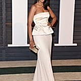 Kerry Wore a Body-Hugging Gown at the 2015 Vanity Fair Oscars Party