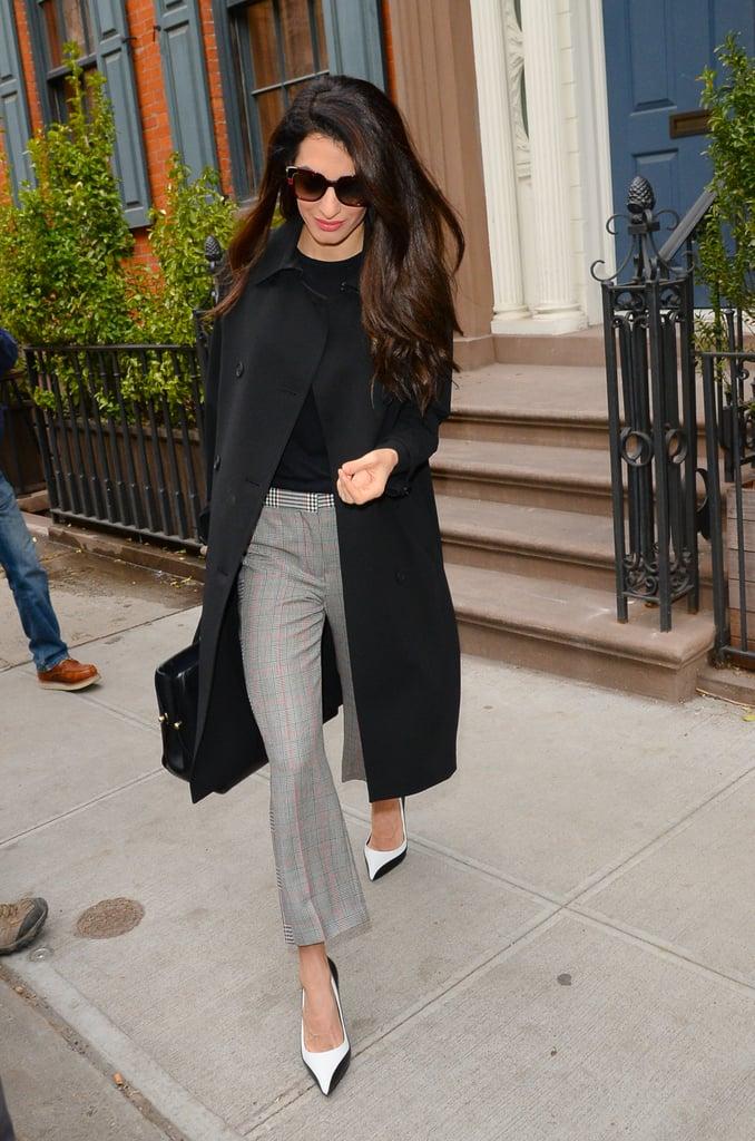 Amal Clooney Alexander McQueen Plaid Pants