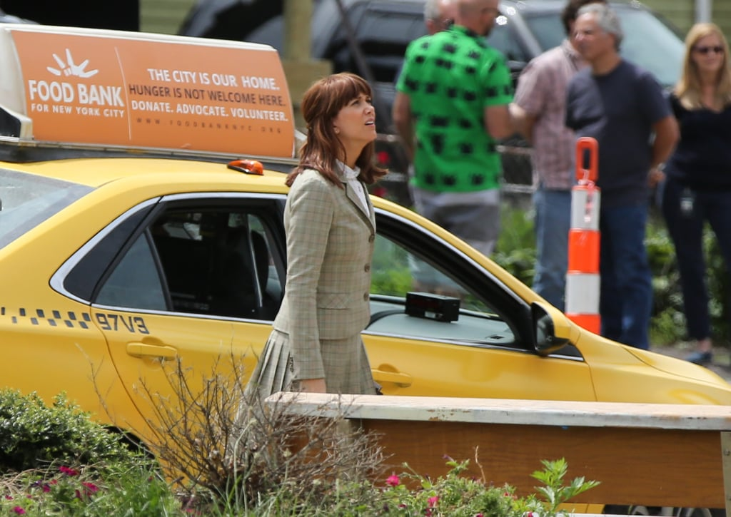Kristen Wiig marvels at the set in Boston.