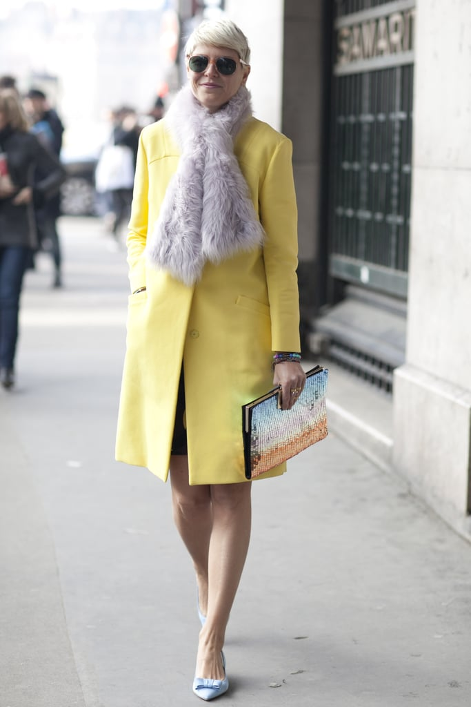 Elisa Nalin showed off a sweet pastel palette in just the right doses.