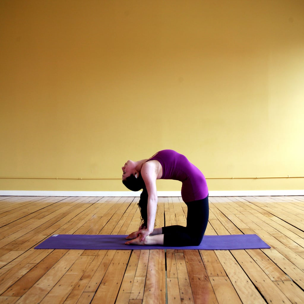 Camel Pose Chest Opening Yoga Poses Popsugar Fitness
