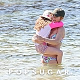 Gerri Halliwell hit the beach in Australia with her daughter, Bluebell.